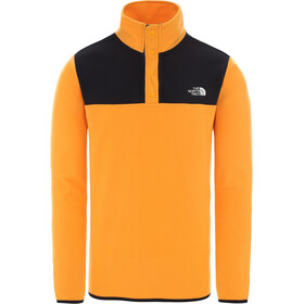 The North Face Tka Glacier Suéter Cuello Botones Hombre, flame orange/tnf black